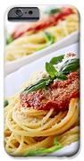 Pasta And Tomato Sauce IPhone Case by Elena Elisseeva