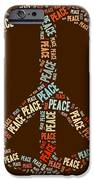 Peace Symbol Retro - 0103b  IPhone Case by Variance Collections