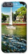 Pentwater Channel Michigan IPhone Case by Nick Zelinsky