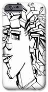 Portrait Of A Man IPhone Case by Michelle Calkins