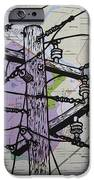 Power Lines On Map IPhone Case by William Cauthern