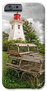 Prince Edward Island Lighthouse With Lobster Traps IPhone Case by Edward Fielding