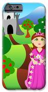 Princess And Castle Landscape IPhone Case by Sylvie Bouchard