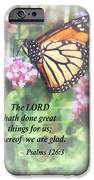 Psalm 126 3 The Lord Hath Done Great Things IPhone Case by Susan Savad
