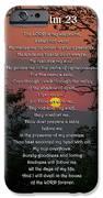 Psalm 23 Prayer Over Sunset Landscape IPhone Case by Christina Rollo