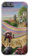 Puppies And Butterflies IPhone Case by Adrian Chesterman