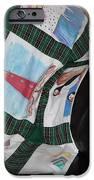 Quilt Newfoundland Tartan Green Posts IPhone Case by Barbara Griffin