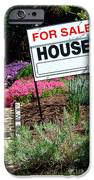 Real Estate For Sale Sign And Garden IPhone Case by Olivier Le Queinec