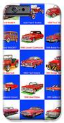 Red Cars Of America IPhone Case by Jack Pumphrey