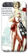Red Cross World War 1 Poster  1918 IPhone Case by Daniel Hagerman