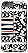 Red White Black Number 4 IPhone Case by Carol Leigh