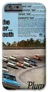 Ride With The Winner... Plymouth IPhone Case by Digital Repro Depot