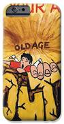 Rock Climbing Cartoon IPhone Case by Mike Jory