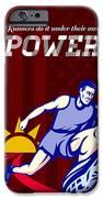 Runner Running Power Poster IPhone Case by Aloysius Patrimonio