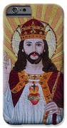 Sacred Heart Of Jesus Hand Embroidery IPhone Case by To-Tam Gerwe