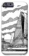 Holland Harbor Lighthouse And Spinaker Flying Sailboat IPhone Case by Jack Pumphrey