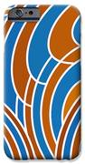 Sanguine And Blue Abstract IPhone Case by Frank Tschakert