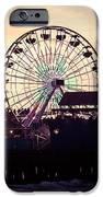 Santa Monica Pier Ferris Wheel Retro Photo IPhone Case by Paul Velgos