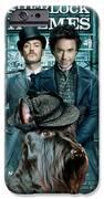 Scottish Terrier Art Canvas Print - Sherlock Holmes Movie Poster IPhone Case by Sandra Sij