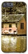 Sepia Floating House IPhone Case by Robert Bales