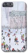 Skating Rink Central Park New York IPhone Case by Judy Joel