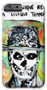Skull Quoting Oscar Wilde.1 IPhone Case by Fabrizio Cassetta