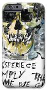 Skull Quoting Oscar Wilde.4 IPhone Case by Fabrizio Cassetta
