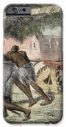 Slaves Irrigating By Water-wheel IPhone Case by English School