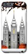 Slc White N Red Temple IPhone Case by La Rae  Roberts