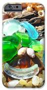 Smiley Face Beach Seaglass Blue Green Art Prints IPhone Case by Baslee Troutman