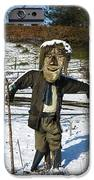 Snowcapped Scarecrow IPhone Case by Anne Gilbert