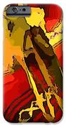 South Western Style Art With A Canadian Moose Skull  IPhone Case by John Malone