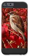 Sparrow IPhone Case by Rona Black