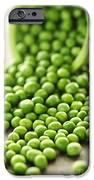Spilled Bowl Of Green Peas IPhone Case by Elena Elisseeva