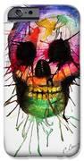 Splatter Skull IPhone Case by Christy Bruna