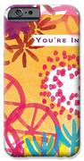Spring Floral Invitation- Greeting Card IPhone Case by Linda Woods
