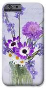 Spring Flowers In A Jam Jar IPhone Case by Ann Garrett