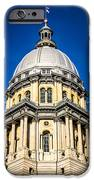 Springfield Illinois State Capitol Dome IPhone Case by Paul Velgos
