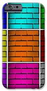 Squared Color Wall  IPhone Case by Semmick Photo