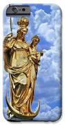St Mary's Column Marienplatz Munich IPhone Case by Christine Till