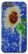 Stained Glass  Sunflower Over The Blue Sky IPhone Case by Lanjee Chee