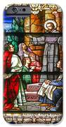 Stained Glass Window Saint Augustine Preaching IPhone Case by Christine Till