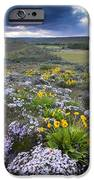 Storm Over Wildflowers IPhone Case by Mike  Dawson
