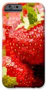 Strawberry Mosaic IPhone Case by Anne Gilbert