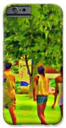 Summertime Walk Through The Beautiful Tree Lined Park Montreal Street Scene Art By Carole Spandau IPhone Case by Carole Spandau