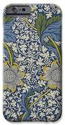 Sunflowers On Blue Pattern IPhone Case by William Morris