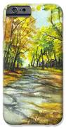 Sunrise On A Shady Autumn Lane IPhone Case by Carol Wisniewski