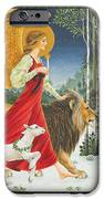 The Angel The Lion And The Lamb IPhone Case by Lynn Bywaters
