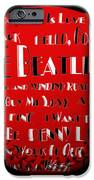 The Beatles Songs Baseball Square IPhone Case by Andee Design
