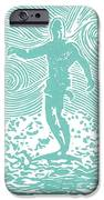 The Duke In Aqua IPhone Case by Stephanie Troxell